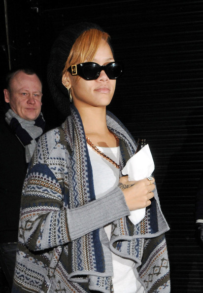 Rihanna arrives in London with a craving for her native Caribbean cuisine.  The 21-year-old Barbadian recording artist headed for a late night snack at Ochi Caribbean take away in Shepards bush and quenched her thirst with authentic Barbadian Tiger Malt beer straight from the bottle.
