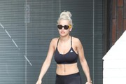 Rita Ora Shows Off Her Abs
