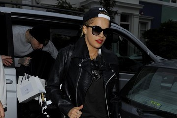 Rita Ora Rita Ora Out with Richard Hilfiger