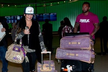 Roger Mathews Jwoww and Roger Mathews at LAX