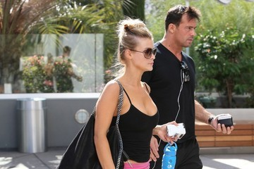 Romain Zago Joanna Krupa and Romain Zago at the Gym