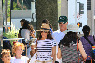 Ron Carlson Selma Blair and Ron Carlson Are See at the Farmers Market in Studio City