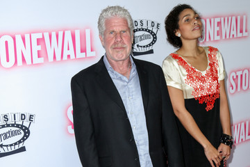 Ron Perlman Celebrities Arrive at the Los Angeles Premiere of 'Stonewall'
