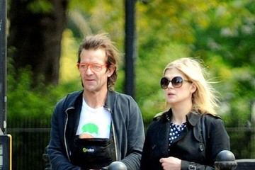 Robie Uniacke Rosamund Pike and Family Out in London