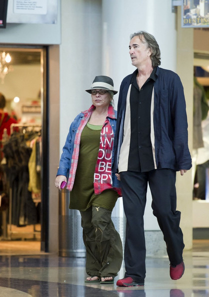 Roseanne Barr with cool, Boyfriend Johnny Argent