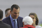 Pope Benedict XVI and King Felipe VI of Spain Photos Photo