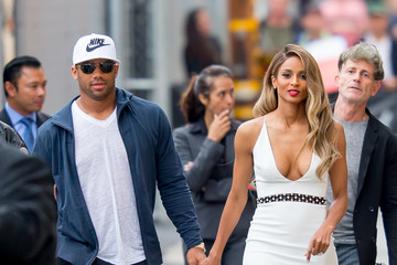 Russell Wilson Ciara and Russell Wilson Arrive at 'Jimmy Kimmel Live'
