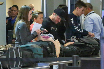 Ryan Phillippe Ryan Phillippe and Son Deacon at LAX International Airport
