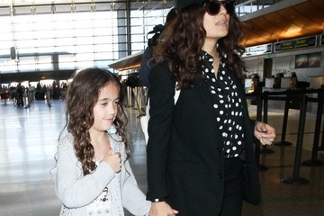 Salma Hayek Salma Hayek and Valentina at LAX