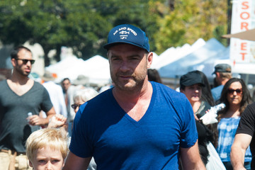 Samuel Schreiber Liev Schreiber Is Seen Out With His Kids