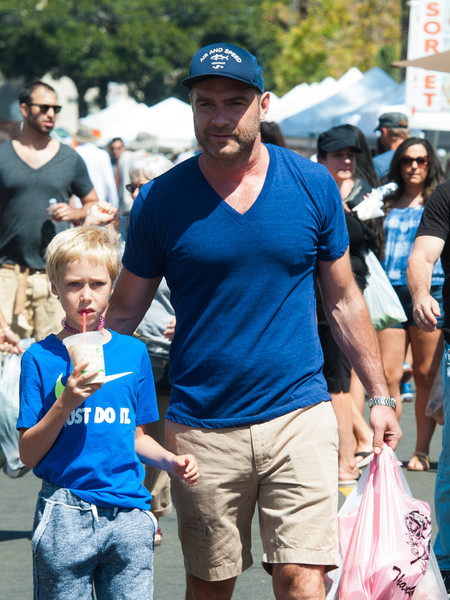 Liev Schreiber Is Seen Out With His Kids