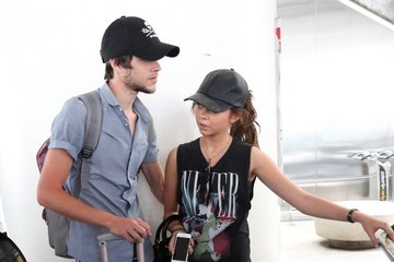Sarah Hyland Sarah Hyland and Matt Prokop at LAX