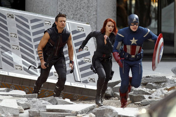 "Scarlett Johansson ""The Avengers"" take over NYC"