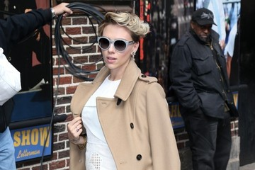 Scarlett Johansson Scarlett Johansson Visits the 'Late Show with David Letterman'