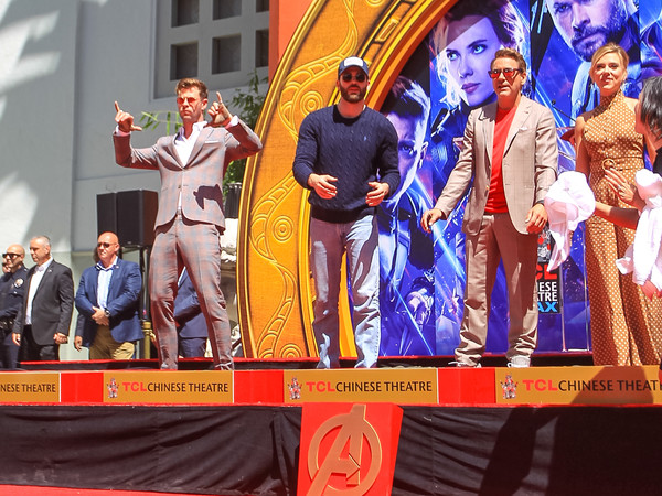 Marvel Studios' 'Avengers: Endgame' Cast Place Their Hand Prints In Cement At TCL Chinese Theatre IMAX Forecourt
