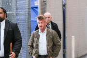 Sean Penn is seen arriving at 'Jimmy Kimmel Live'.