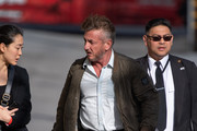 Sean Penn is seen at 'Jimmy Kimmel Live' in Los Angeles, California.