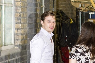 Seth Numrich Kim Cattrall and Seth Numrich Leave the ITV Studios