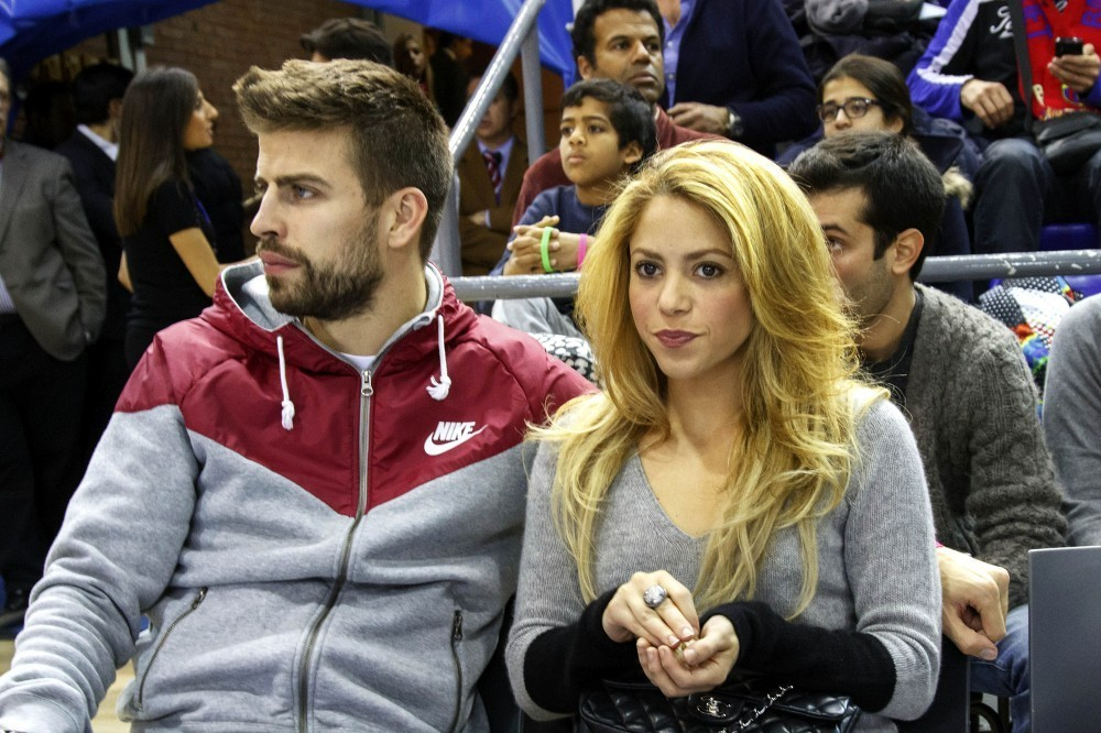 Shakira Watches a Basketball Game
