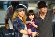 Shakira and Milan Watch Gerard Play Soccer