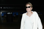 Sharon Stone Arrives at LAX