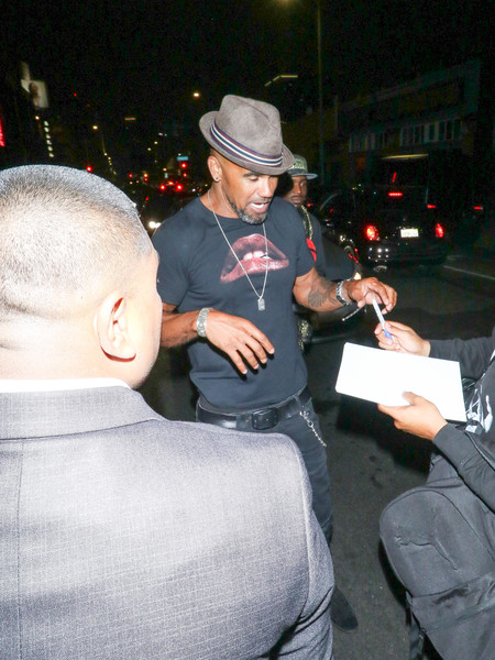 Shemar Moore Outside Kevin Hart's Birthday Party At TAO In Hollywood
