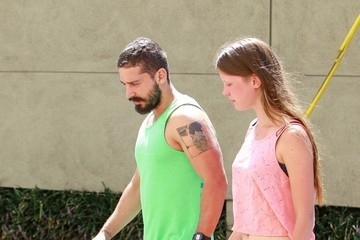 Shia LaBeouf Shia Labeouf and Mia Goth Leave a Workout