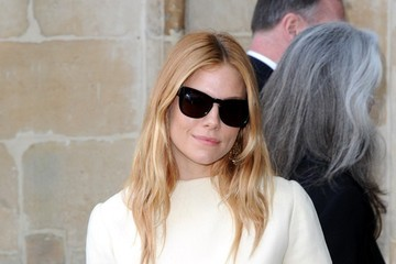 Sienna Miller Memorial Service Held for David Frost