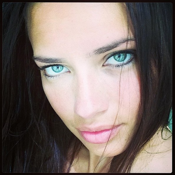 Adriana Lima has pretty eyes and she knows it.