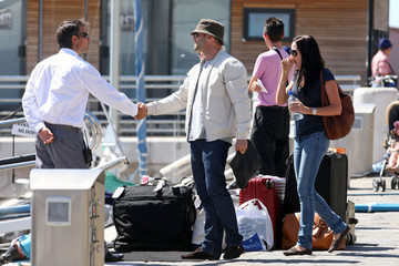 Alex Zosman Jason Statham Arrives in Nice
