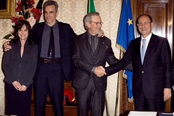 Steven Spielberg Daniel Day-Lewis The Cast of 'Lincoln' in Rome
