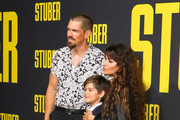 Steve Howey and Sarah Shahi are seen attending 'Stuber' Premiere at Regal Cinemas LA Live in Los Angeles, California.
