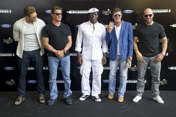 Sylvester Stallone Jason Statham 'The Expendables 3' Photo Call in Malaga