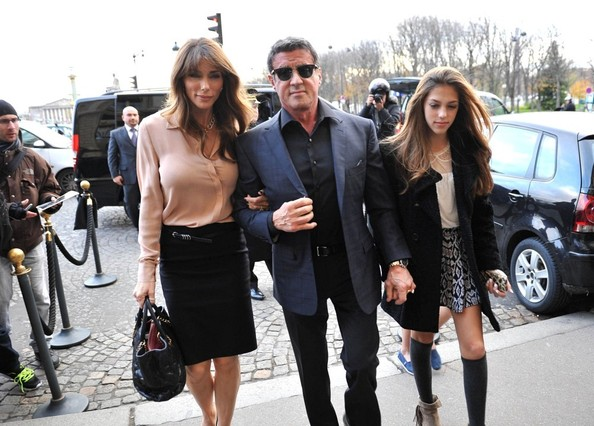 Stallone goes to the Louvre