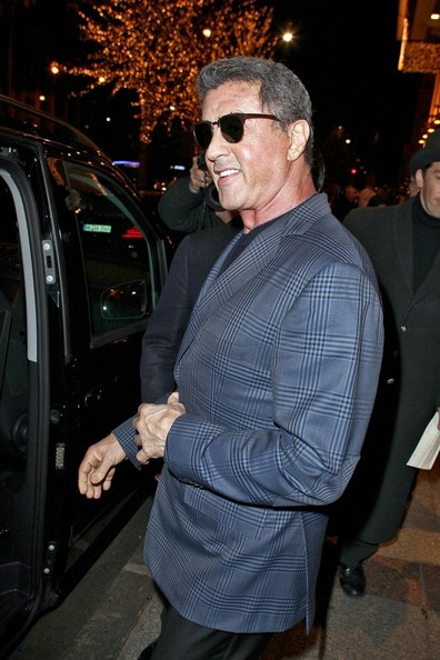 Sylverster Stallone and Family in Paris