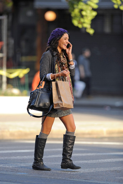 """Gossip Girl"" star Jessica Szohr gets chatty on her cell phone while strolling through SoHo. At one point a concerned look comes across her face as she appears to be unsure where to head to next."