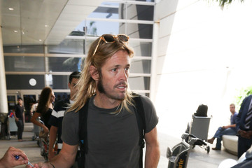 Taylor Hawkins Foo Fighters Is Seen at LAX
