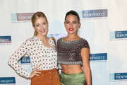 Jennifer Finnigan and Melia Kreiling are seen arriving at The Teen Project's Hollywood Red Carpet Event at TCL Chinese 6 Theatre.