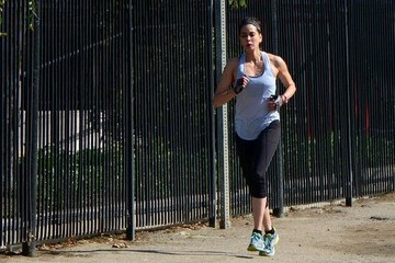 Teri Hatcher Teri Hatcher Goes for a Run