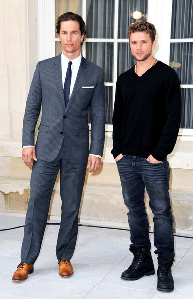 Ryan Phillippe and Matthew McConaughey attend a photocall for 'The Lincoln Lawyer' held at the Shangri-La hotel .