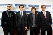 'The Social Network' premiere in Madrid.Pictures shows: Justin Timberlake, Andrew Garfield, Jesse Eisenberg, Aaron Sorkin.