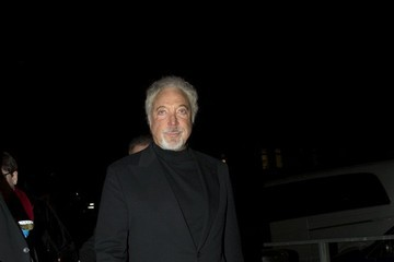 Tom Jones Celebs at Justin Timberlake concert