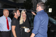 Tori Spelling Outside Craig's Restaurant In West Hollywood
