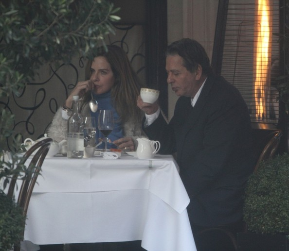 Trinny Woodall and Charles Saatchi Have Lunch in London