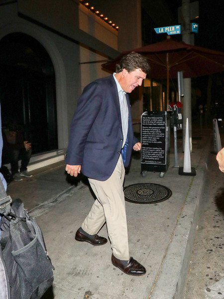 Tucker Carlson Outside Craig's Restaurant In West Hollywood