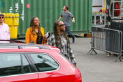 Ty Dolla Sign is seen arriving at 'Jimmy Kimmel Live' in Los Angeles, California.