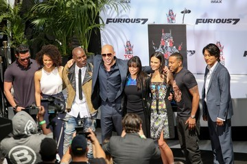 Tyrese Gibson Vin Diesel Hand Prints Ceremony