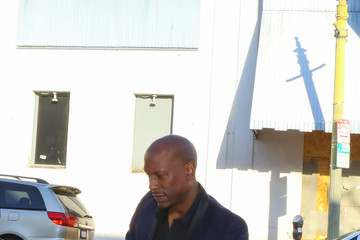 Tyrese Gibson Tyrese Gibson Leaves Lunch at Beso Restaurant