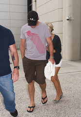 Mike Fisher Carrie Underwood Carrie Underwood and Mike Fisher at LAX