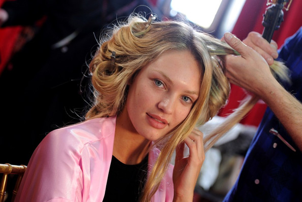 Candice+Swanepoel in VS Fashion Show - Hair & Makeup